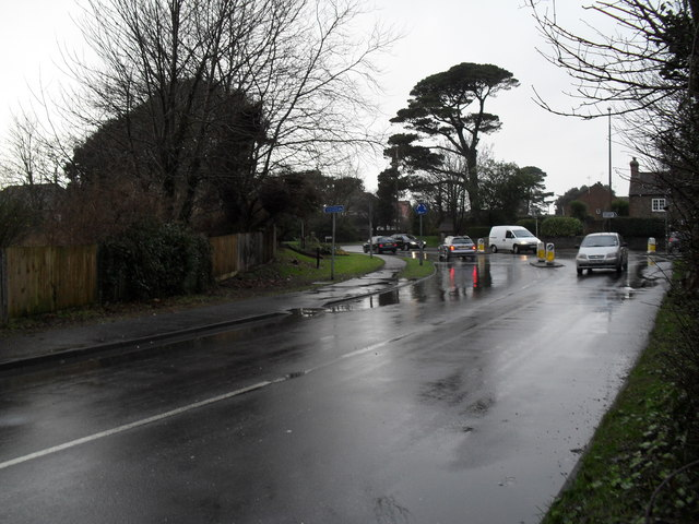 A very wet winter's day in Station Road