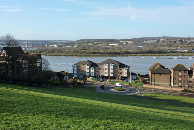 View of the river Medway from the church of St. Peter with St. Margaret