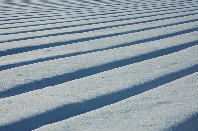 Snow covered arable land, Birlingham