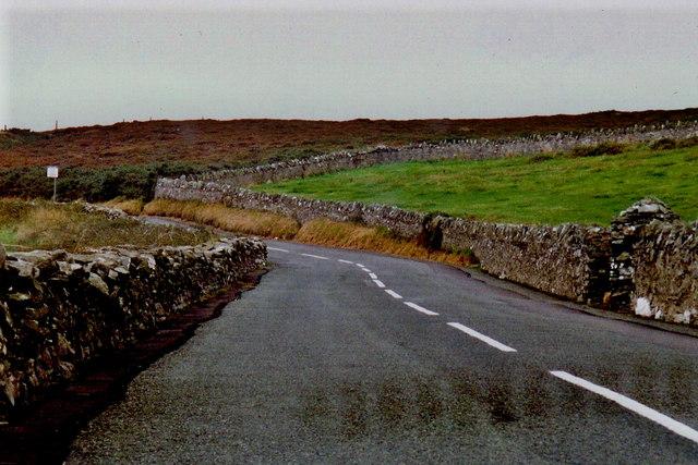 Cregneash Road - View is southwest towards village