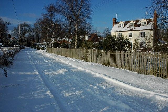 Birlingham in snow