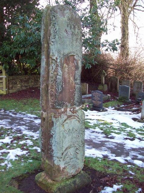 Saxon Cross in Bradbourne Churchyard