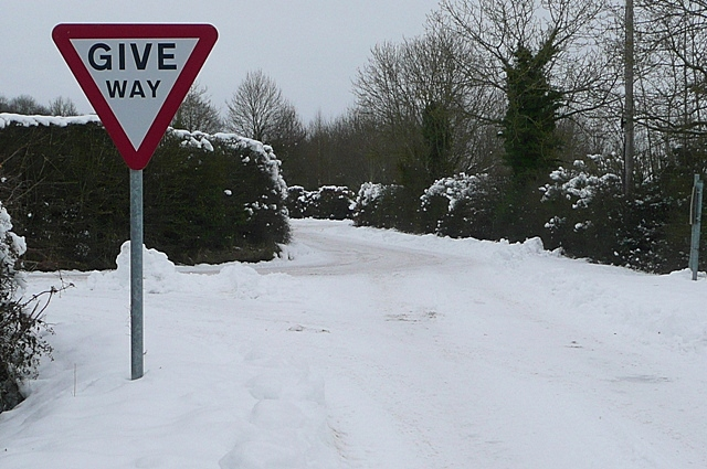 Give way - if you can