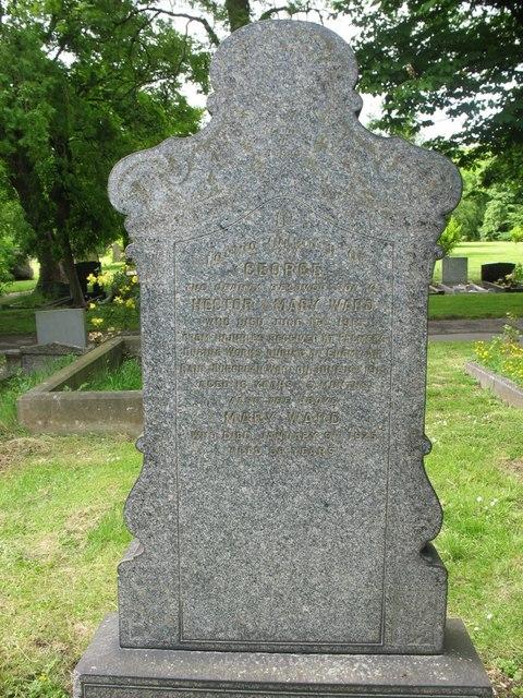 Grave of George Ward in Jarrow Cemetery