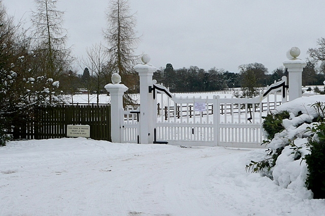 Entrance to Stratfield Saye estate
