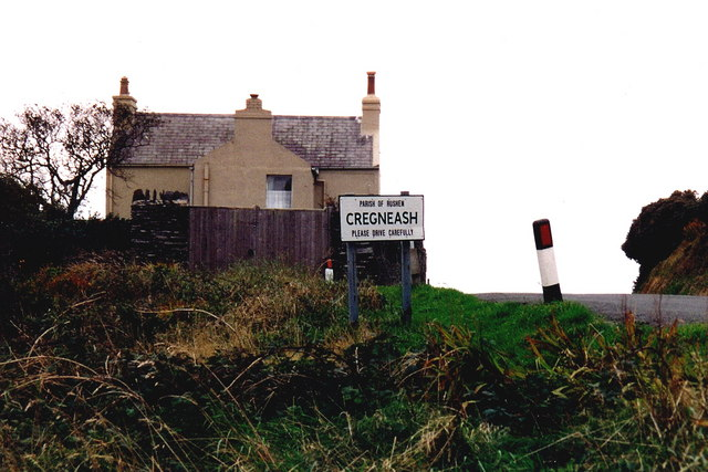 Cregneash - First home seen entering from east