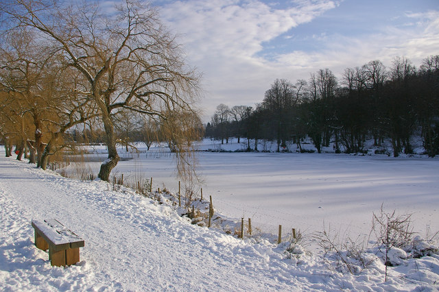 A frozen Priory Pond