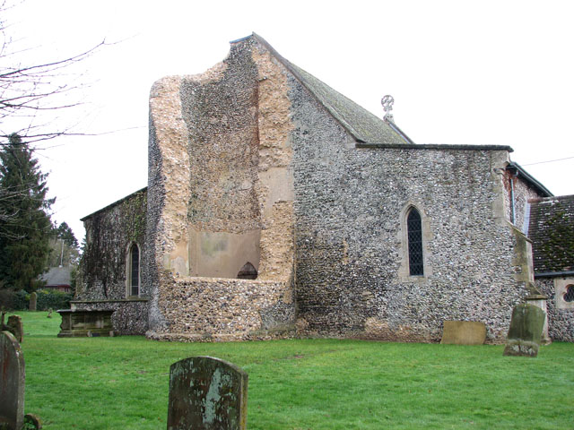 All Saints church - the collapsed tower