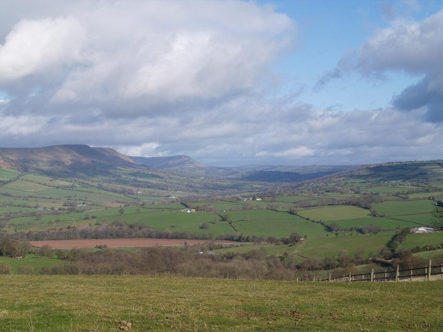 View towards Black Mountains