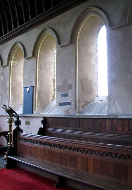 All Saints church - chancel windows