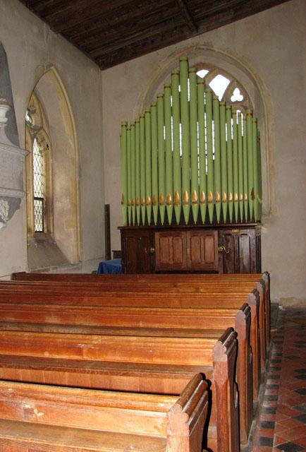 All Saints church - church organ in north aisle