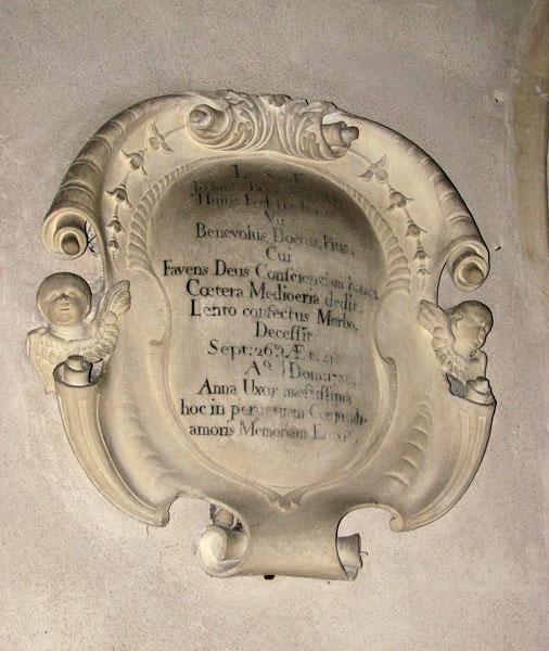 All Saints church - memorial tablet