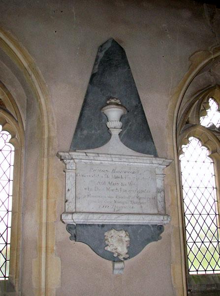 All Saints church - C18 memorial