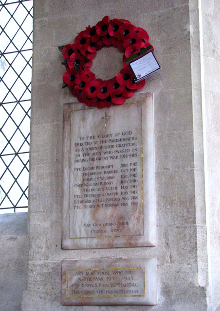 All Saints church - war memorial