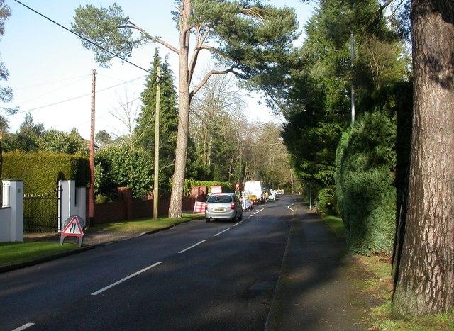 Ferndown, roadworks