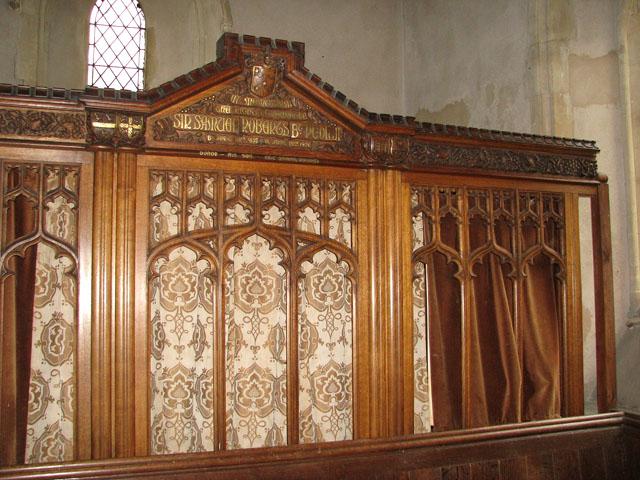 All Saints church - vestry screen (detail)