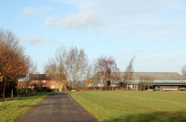 Approaching Newfields Farm