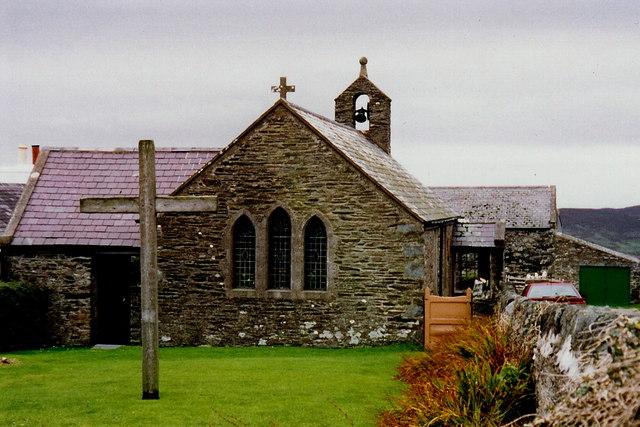 Cregneash - Rear view of church
