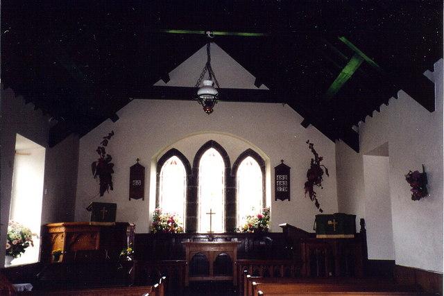 Cregneash - Interior of church