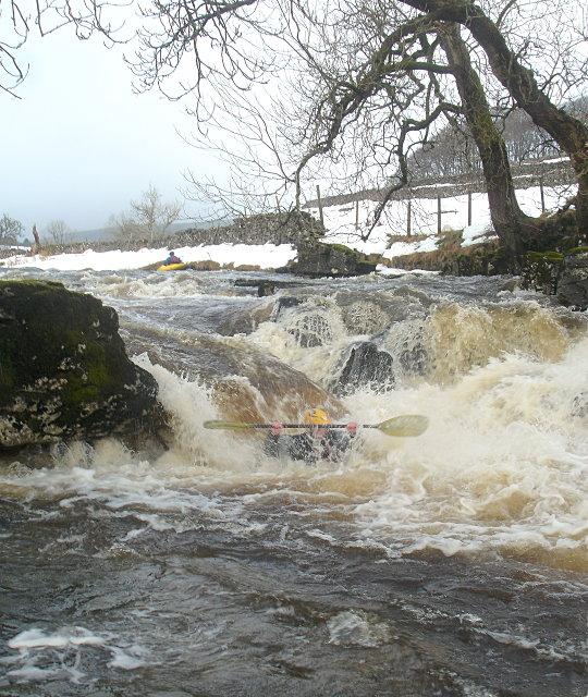 Splashy fall on the Upper Wharfe
