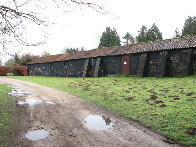 Old barn by Ivy Wall Farm
