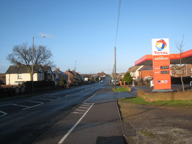 TOTAL filling station at Blackhall Colliery
