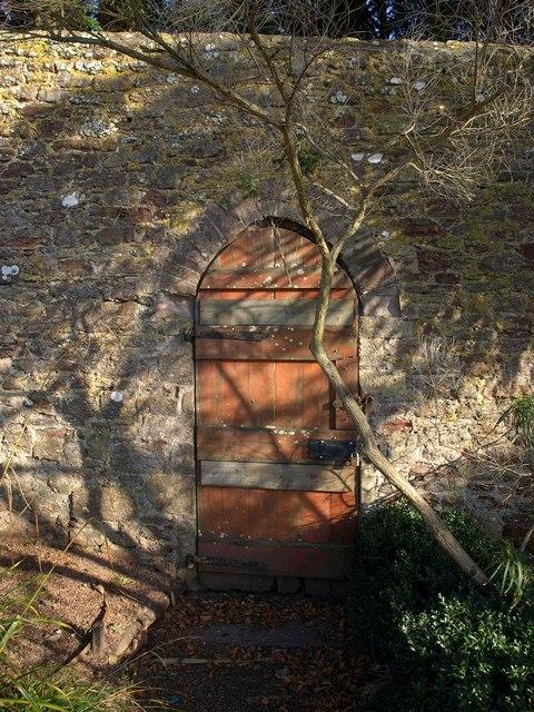 Door, Torre Abbey Gardens