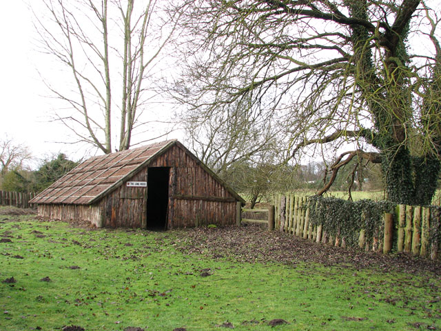 The 'Iceni Village' in Cockley Cley - the longhouse