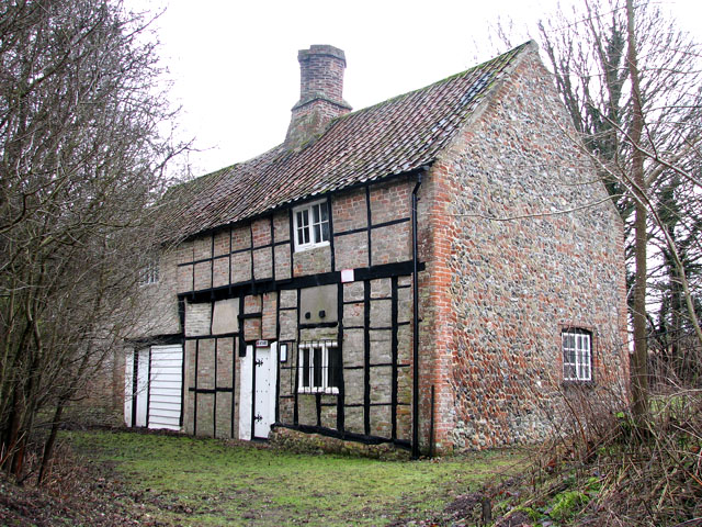 Timberframed C17 cottage in Cockley Cley