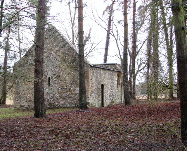 The ruined church of St Mary in Cockley Cley