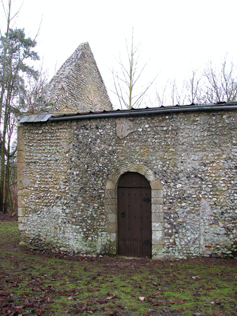 The ruined church of St Mary in Cockley Cley - Norman doorway