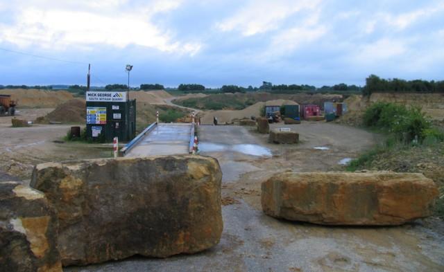 South Witham quarry weighbridge and car park