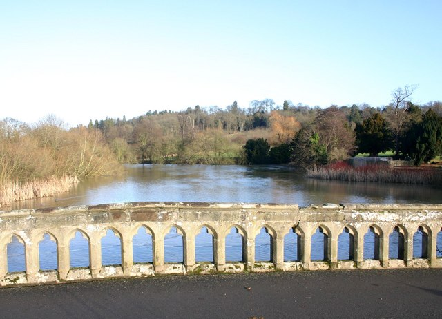 The ornamental lake at Walton Hall Hotel