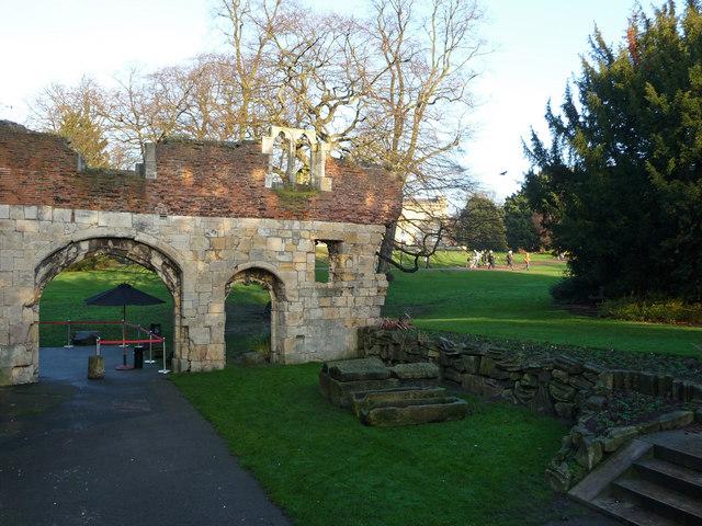 Gateway adjoining the Hospitium, St Mary's Abbey, York