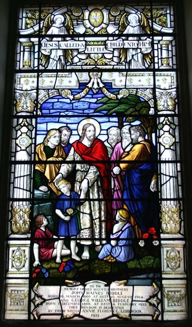Stained glass window, Church of St. James, Walton D'Eivile