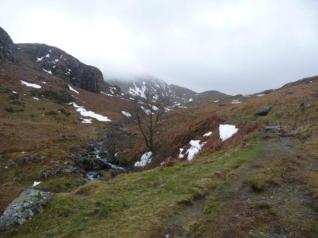 Footpath up Cnicht, looking towards Bwlch y Battel