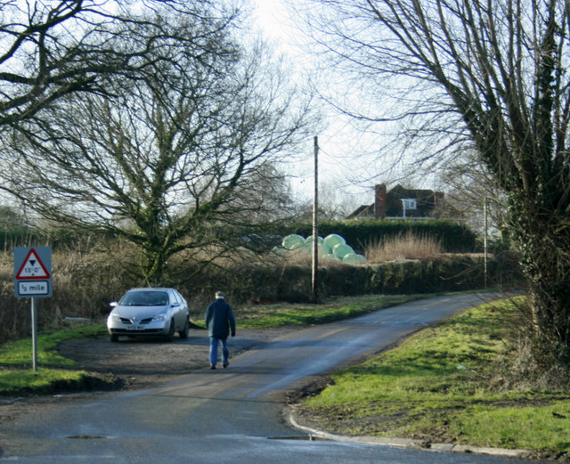 2010 : Folly Lane at the junction with the A350