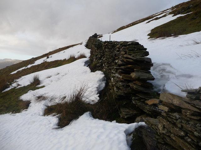 Remains of snowdrifts near Llyn Llagi