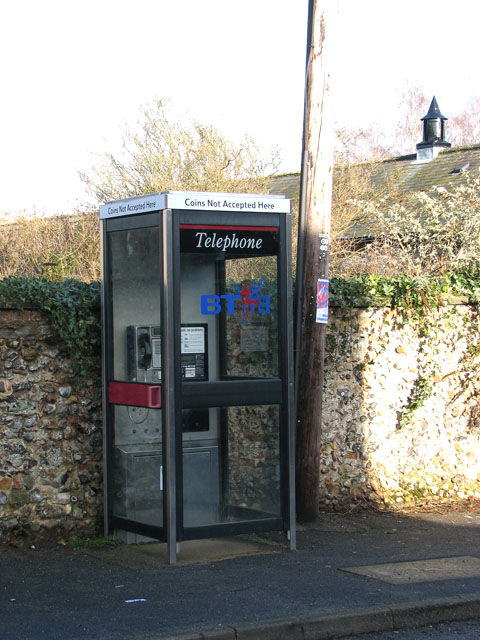 Telephone box in The Street