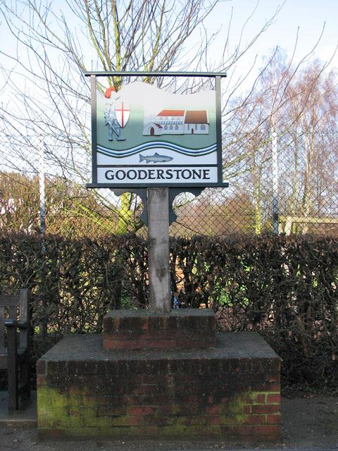 Village sign, Gooderstone