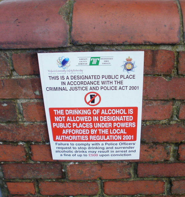 Designated public place notice, New Inn