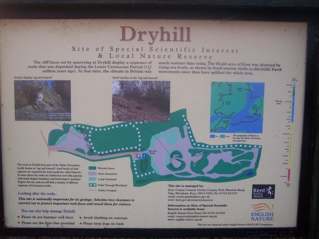 Dryhill Nature Reserve Information Board