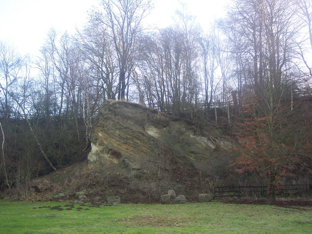 Ragstone Outcrop in Dryhill Local Nature Reserve
