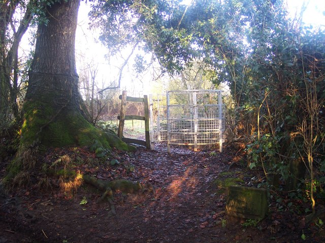 Kissing Gate near Dryhill Lodge