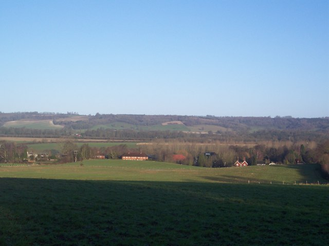 View of the North Downs, from Sundridge