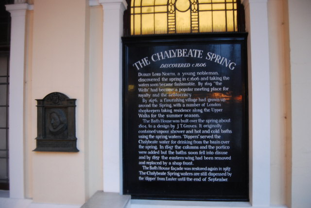 Sign above the Chalybeate Spring, The Pantiles