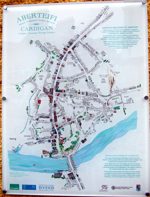 Town map, Aberteifi/Cardigan