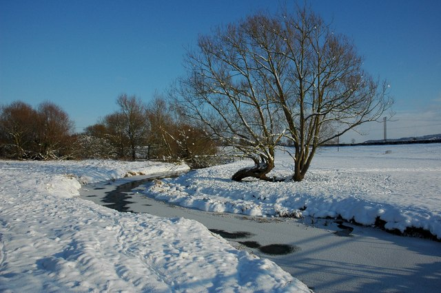 A wintery Bow Brook, Defford