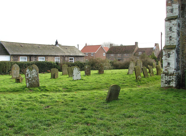 Cottages in The Street viewed from St George's churchyard