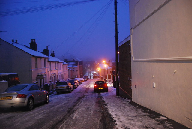 Icy conditions, Beech St